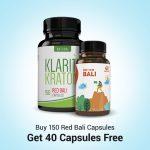 Buy 150 Red Bali Capsules Get 40 Capsules Free