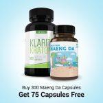 Buy 300 Maeng da Capsules Get 75 Capsules Free