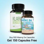 Buy 500 Maeng Da Capsules Get 150 Capsules Pack Free
