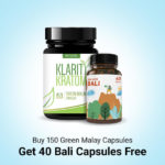 Buy 150 Green Malay get 40 capsules