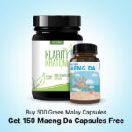 Buy 500 Green Malay Capsules Get 150 Maeng Da Capsules Free