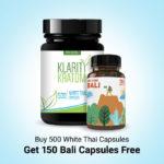 Buy 500 White Thai Capsules Get 150 Bali Capsules Free